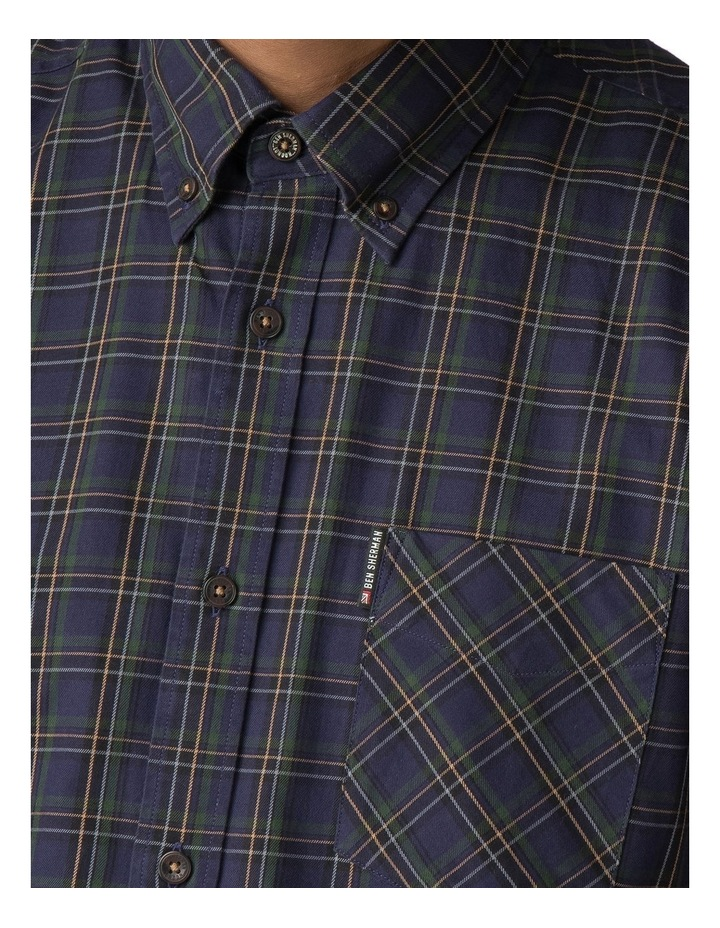 LS HERITAGE WINDOWPANE SHIRT NAVY image 4