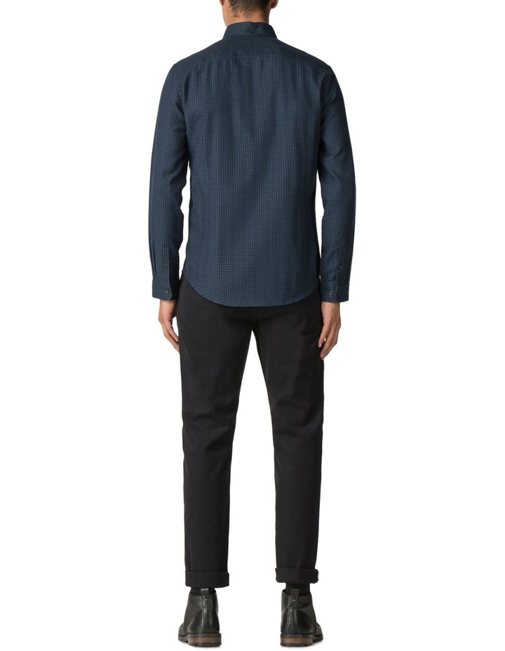 Long Sleeve Herringbone Polka Shirt Dark Navy image 3