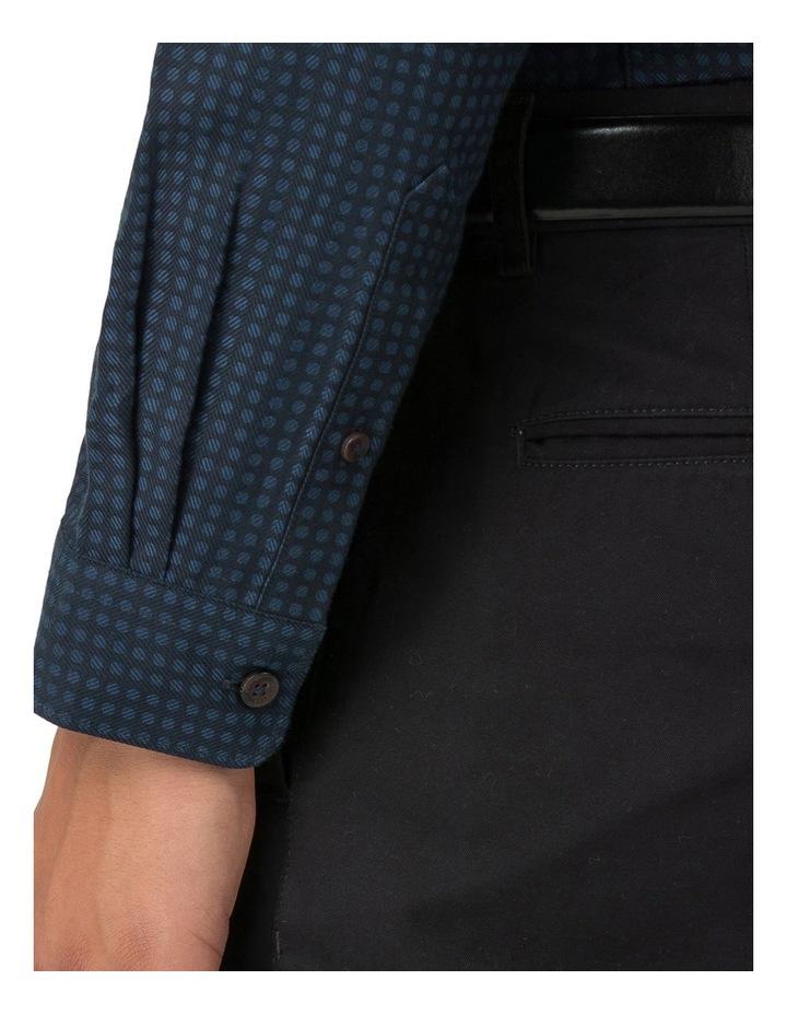 Long Sleeve Herringbone Polka Shirt Dark Navy image 5