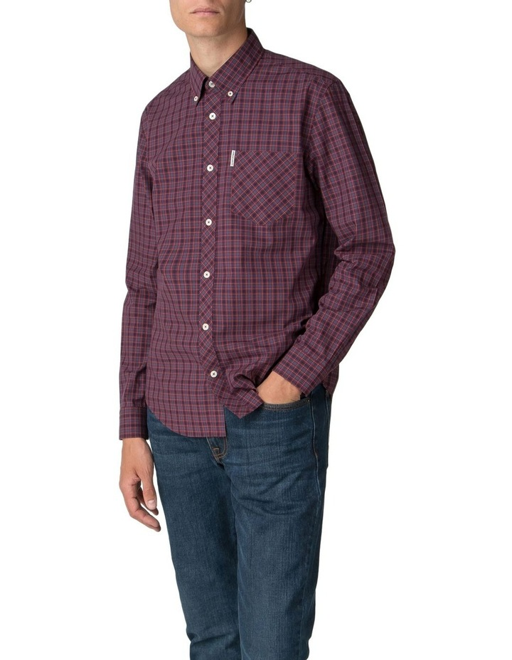 Long Sleeve House Check Shirt Rust image 1