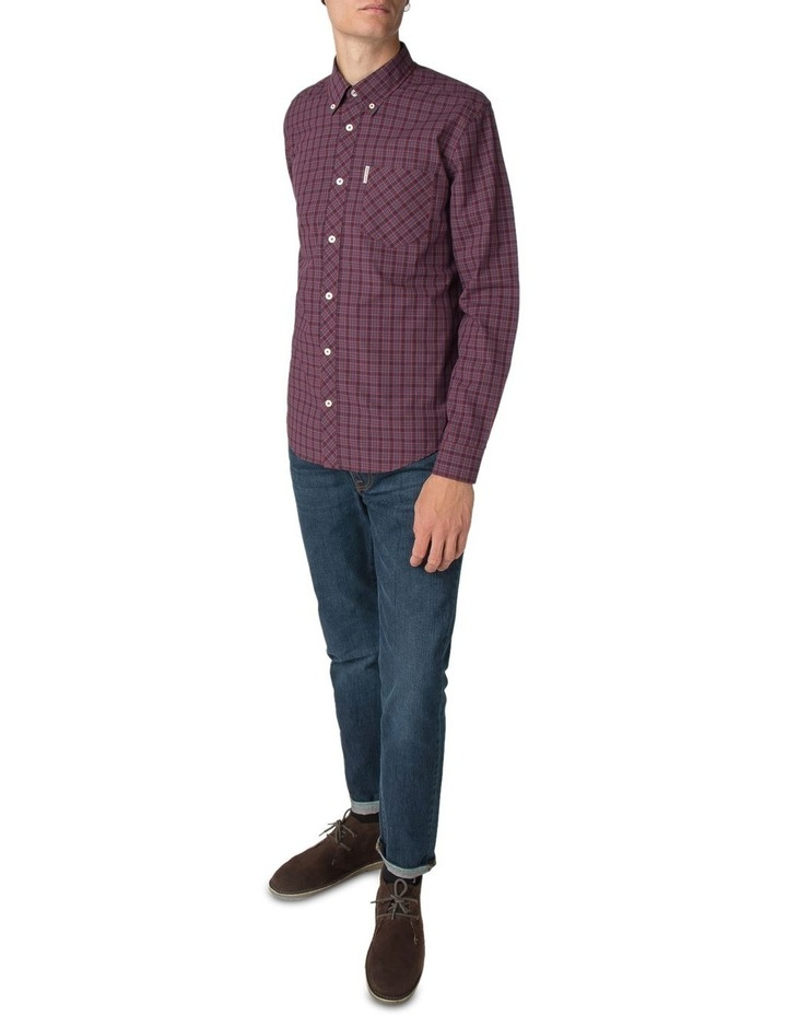 Long Sleeve House Check Shirt Rust image 3