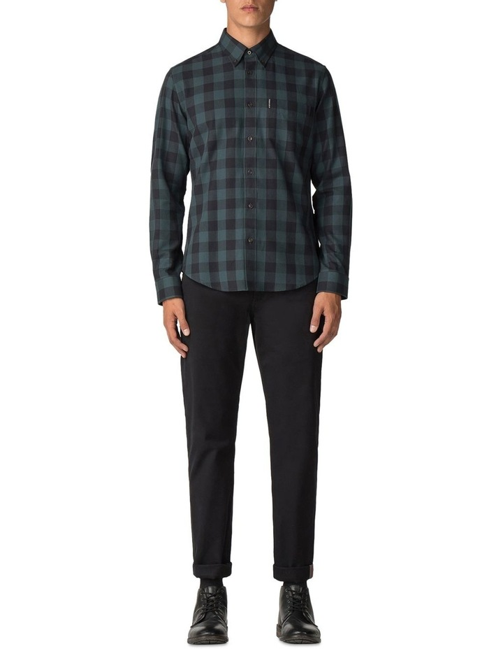 Long Sleeve Parquet Gingham Shirt Dark Green image 2