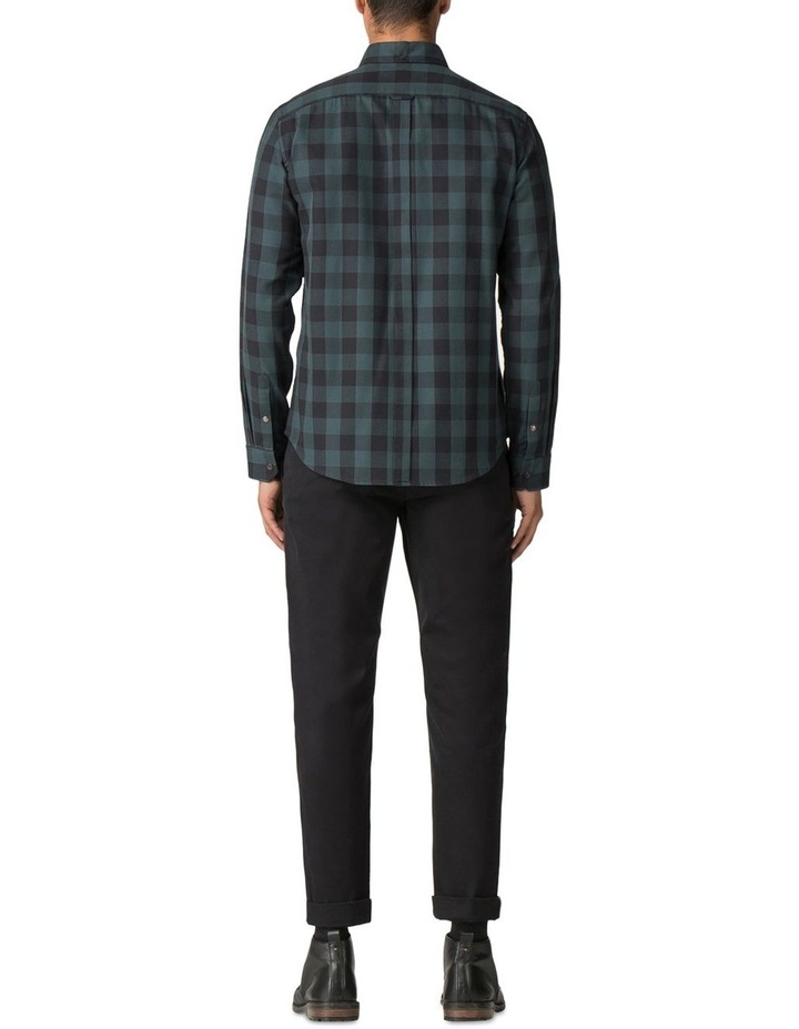 Long Sleeve Parquet Gingham Shirt Dark Green image 3