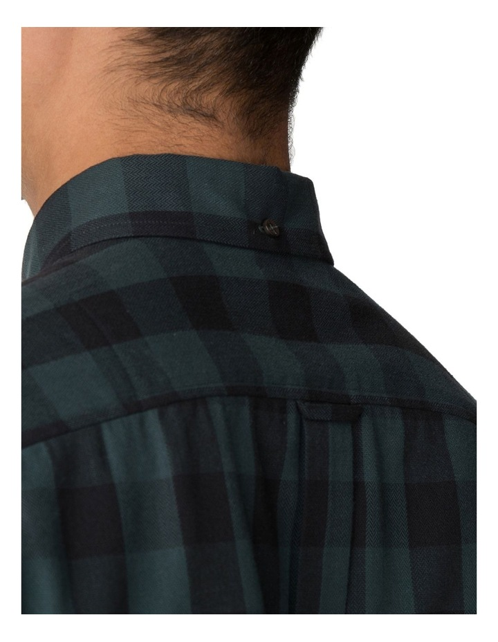 Long Sleeve Parquet Gingham Shirt Dark Green image 5