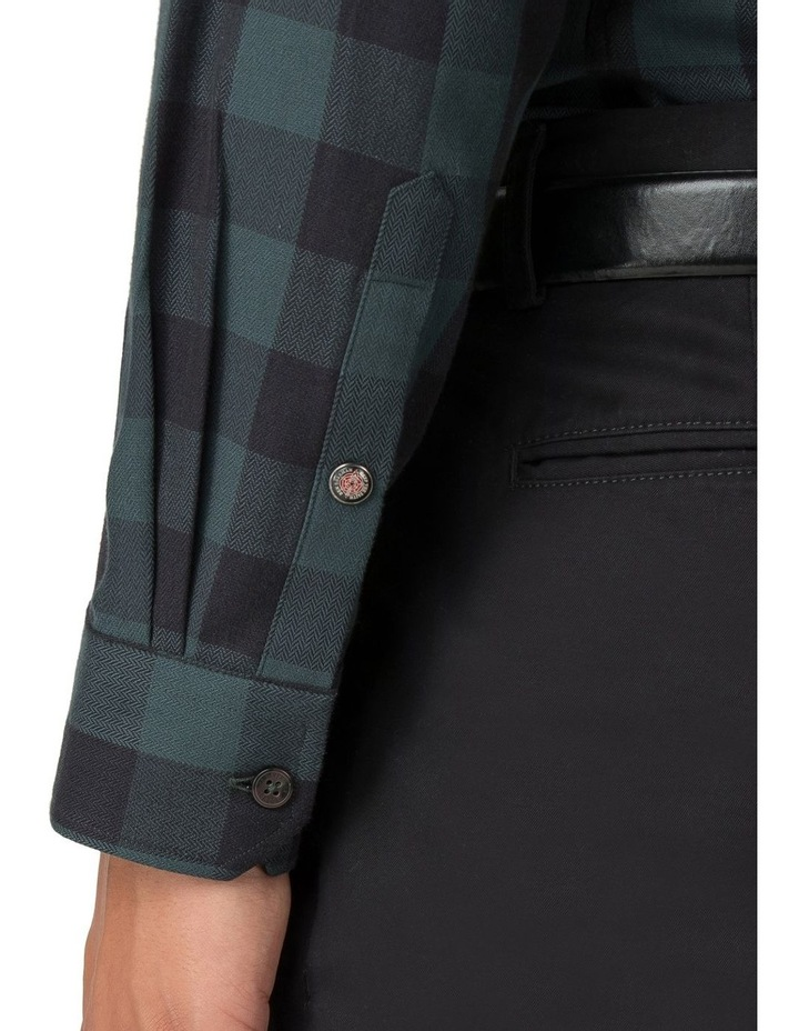 Long Sleeve Parquet Gingham Shirt Dark Green image 6