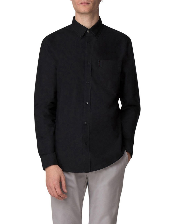 Long Sleeve Oxford Shirt Barely Black image 1