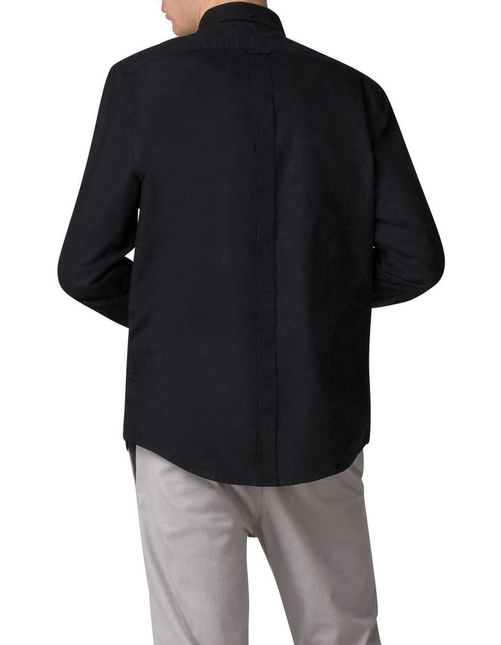 Long Sleeve Oxford Shirt Barely Black image 2