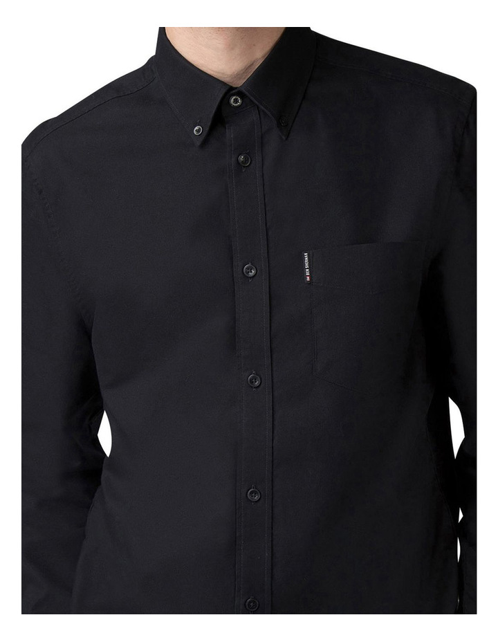 Long Sleeve Oxford Shirt Barely Black image 3