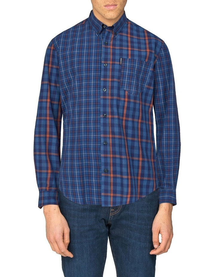 Long Sleeve Mixes Check Shirt Dark Navy image 1