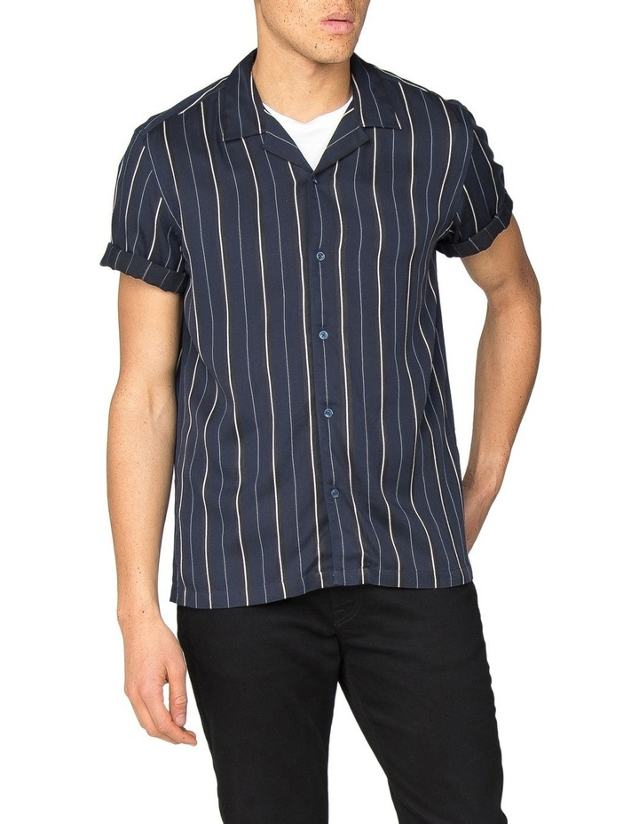 Satin Stripe Short Sleeve Shirt image 1