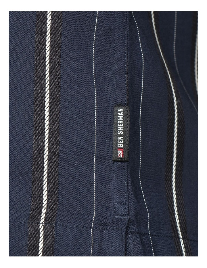 Satin Stripe Short Sleeve Shirt image 3