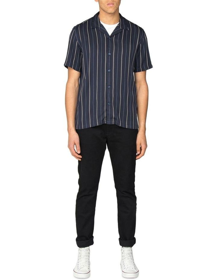Satin Stripe Short Sleeve Shirt image 4