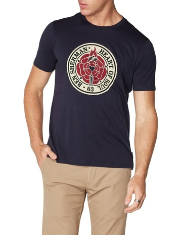 4a102a00ebe Ben ShermanHEART OF SOUL ROSE T-SHIRT DARK NAVY. Ben Sherman HEART OF SOUL  ROSE T-SHIRT DARK NAVY