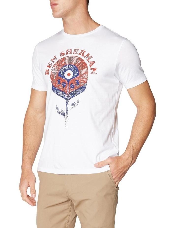 Record Flower T-Shirt White image 1