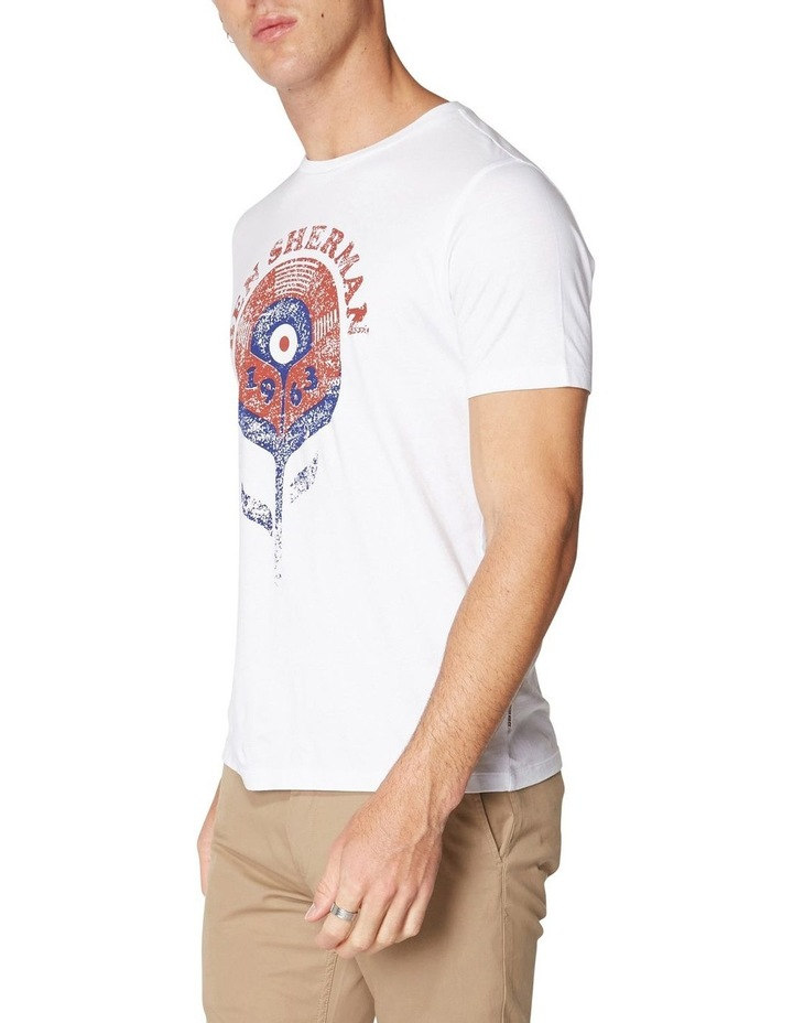 Record Flower T-Shirt White image 3