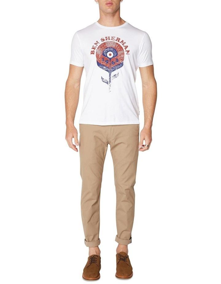 Record Flower T-Shirt White image 4