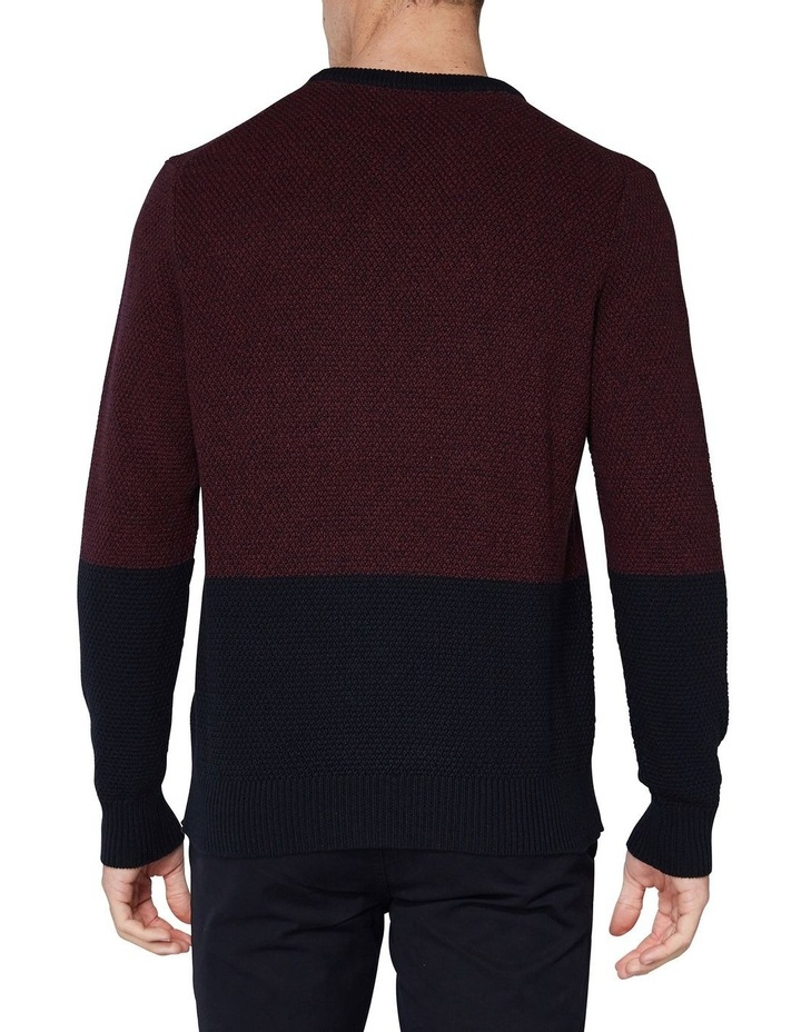 LS WAFFLE TEXTURE TWO TONE CREW PORT image 2