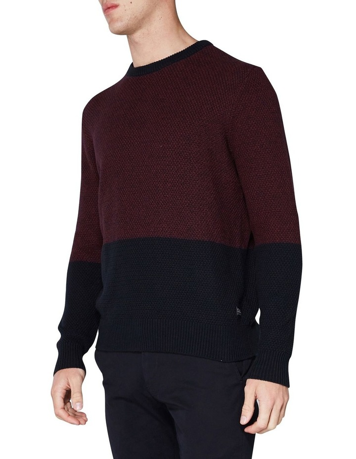 LS WAFFLE TEXTURE TWO TONE CREW PORT image 3