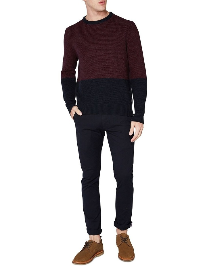 LS WAFFLE TEXTURE TWO TONE CREW PORT image 4