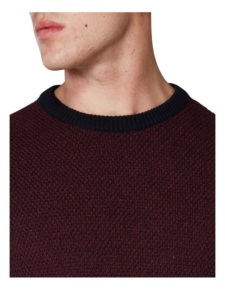 LS WAFFLE TEXTURE TWO TONE CREW PORT image 5