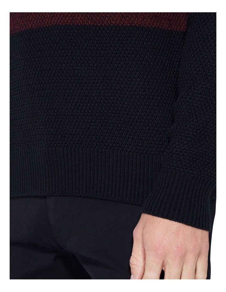 LS WAFFLE TEXTURE TWO TONE CREW PORT image 6