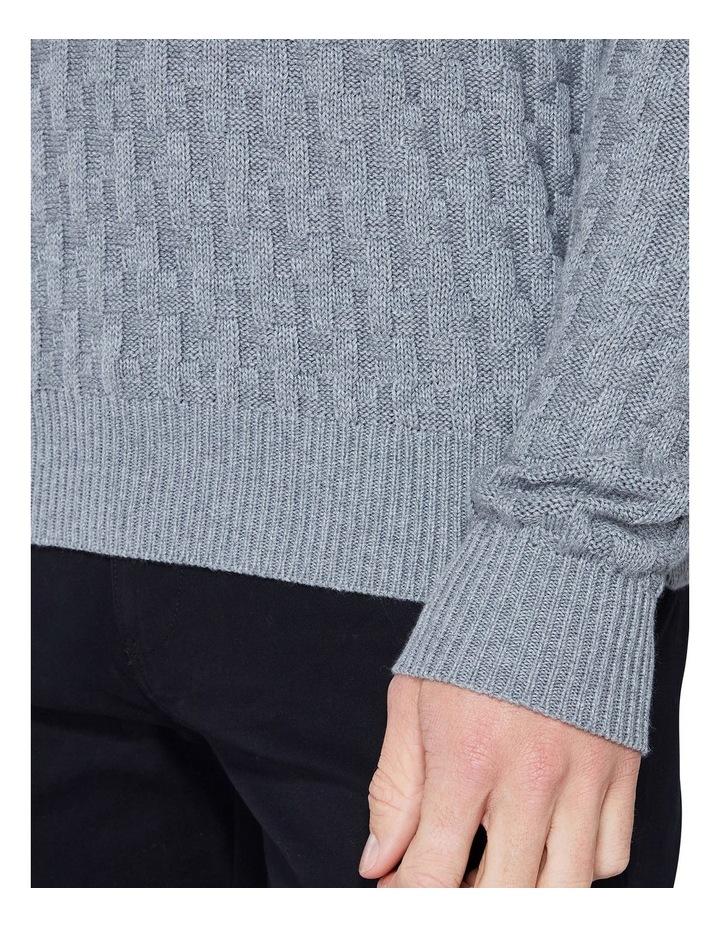 Long Sleeve Basketweave Crew Knit Chimney Marl image 6