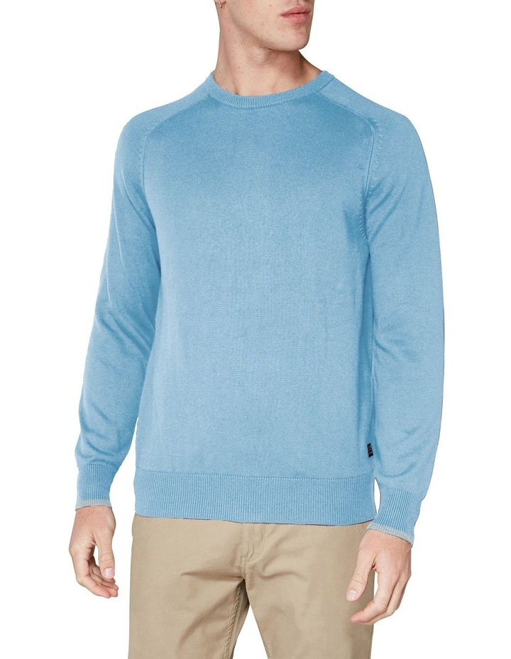 Crew Neck With Cuff Tipping Dusky Blue image 1