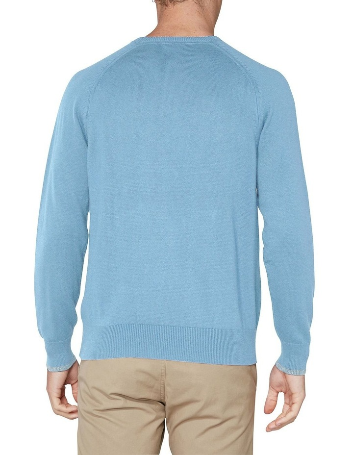 Crew Neck With Cuff Tipping Dusky Blue image 2