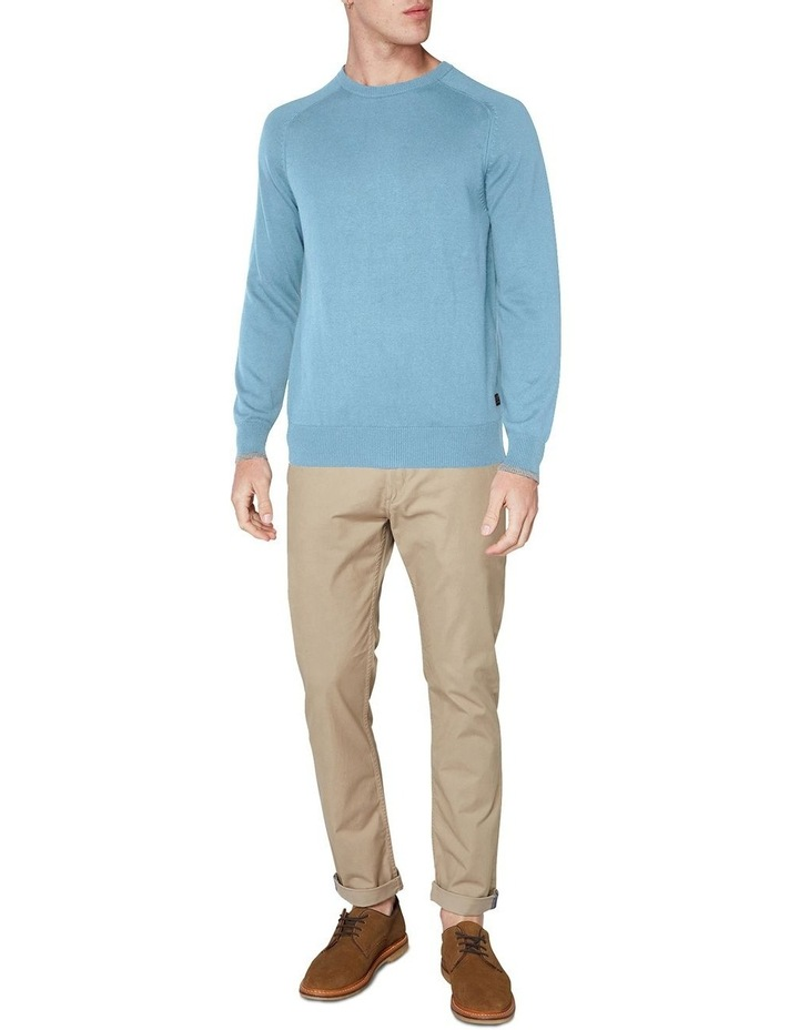 Crew Neck With Cuff Tipping Dusky Blue image 4