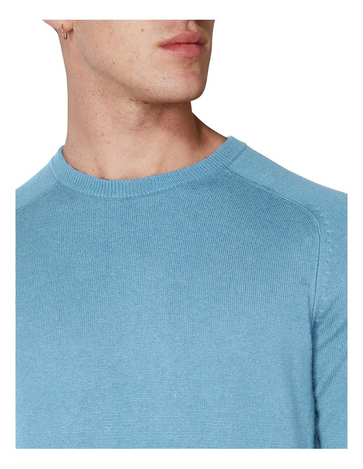 Crew Neck With Cuff Tipping Dusky Blue image 5