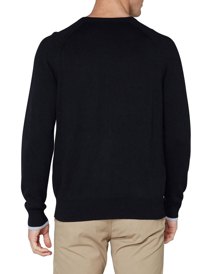 Crew Neck With Cuff Tipping Black image 2