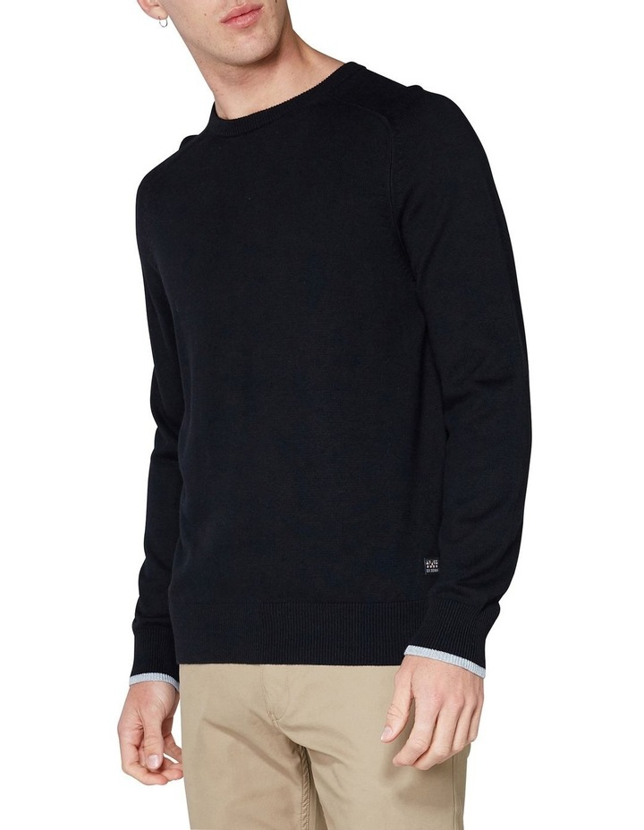 Crew Neck With Cuff Tipping Black image 3