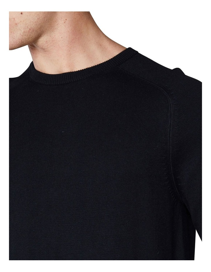 Crew Neck With Cuff Tipping Black image 5
