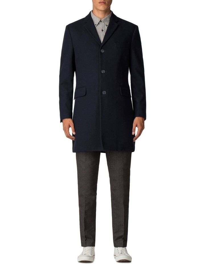 Crombie Coat Dark Navy image 2