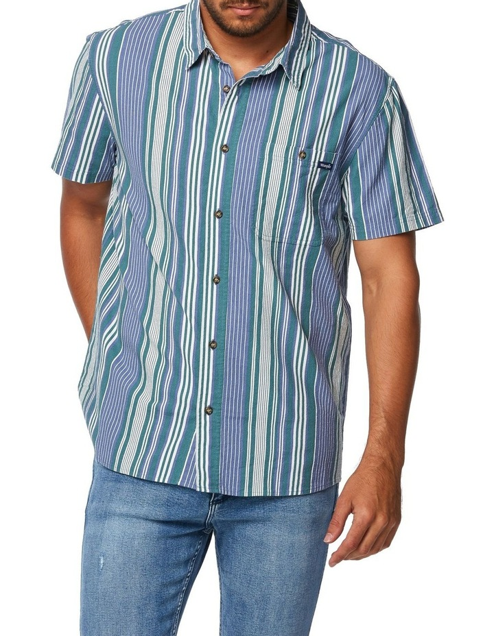 Slater Shirt Blue Green Stripe image 1