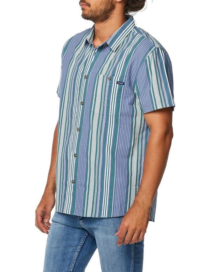 Slater Shirt Blue Green Stripe image 2