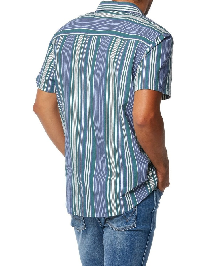 Slater Shirt Blue Green Stripe image 3