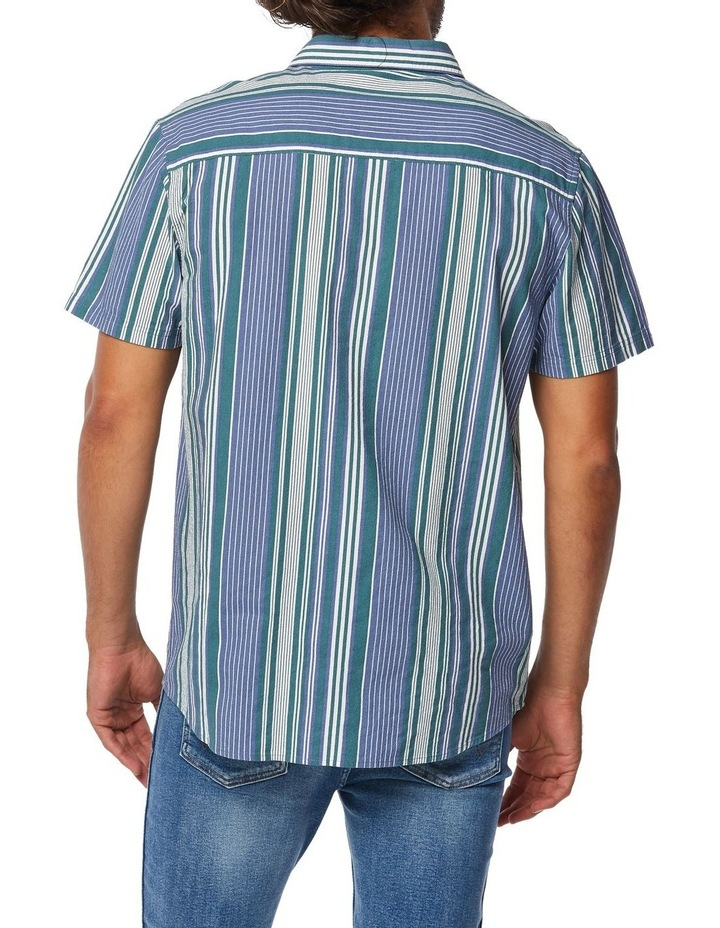 Slater Shirt Blue Green Stripe image 4
