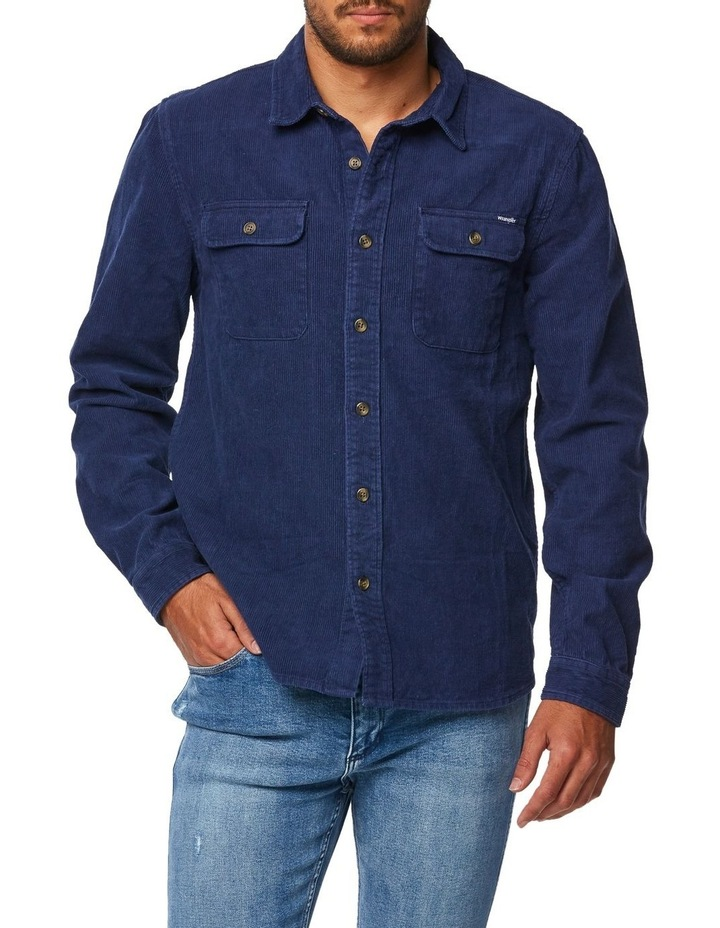 Parallels Shirt Washed Navy image 1