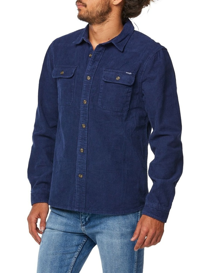 Parallels Shirt Washed Navy image 2