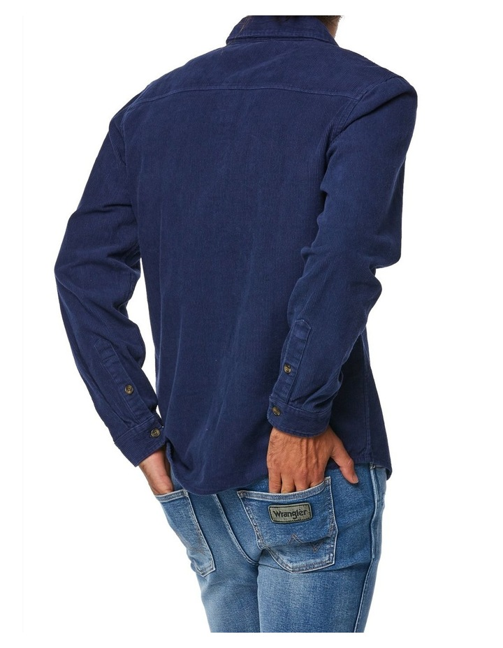 Parallels Shirt Washed Navy image 3