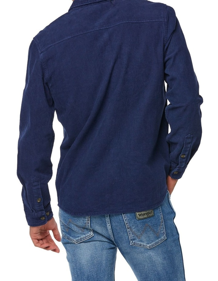 Parallels Shirt Washed Navy image 4