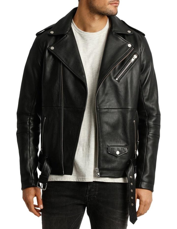 Oden Biker Leather Jacket image 1
