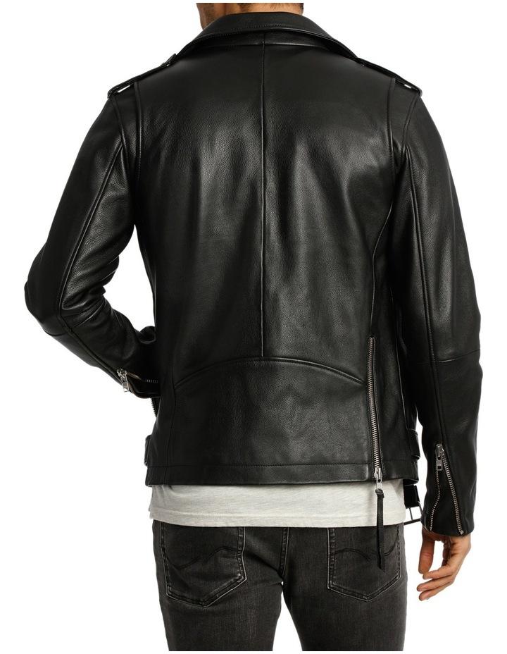 Oden Biker Leather Jacket image 3