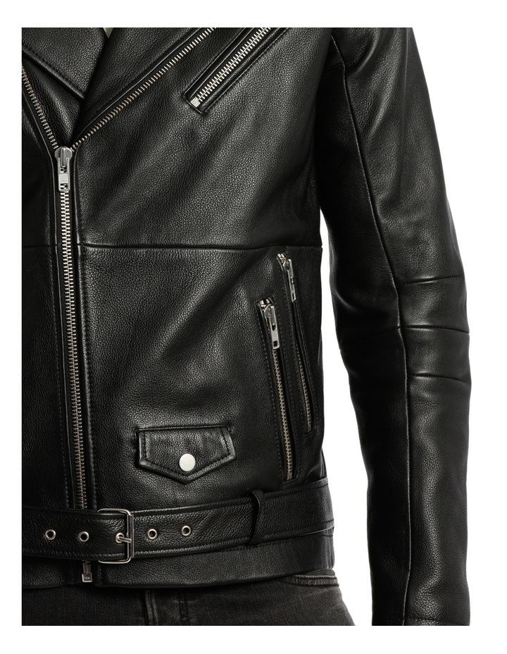 Oden Biker Leather Jacket image 4