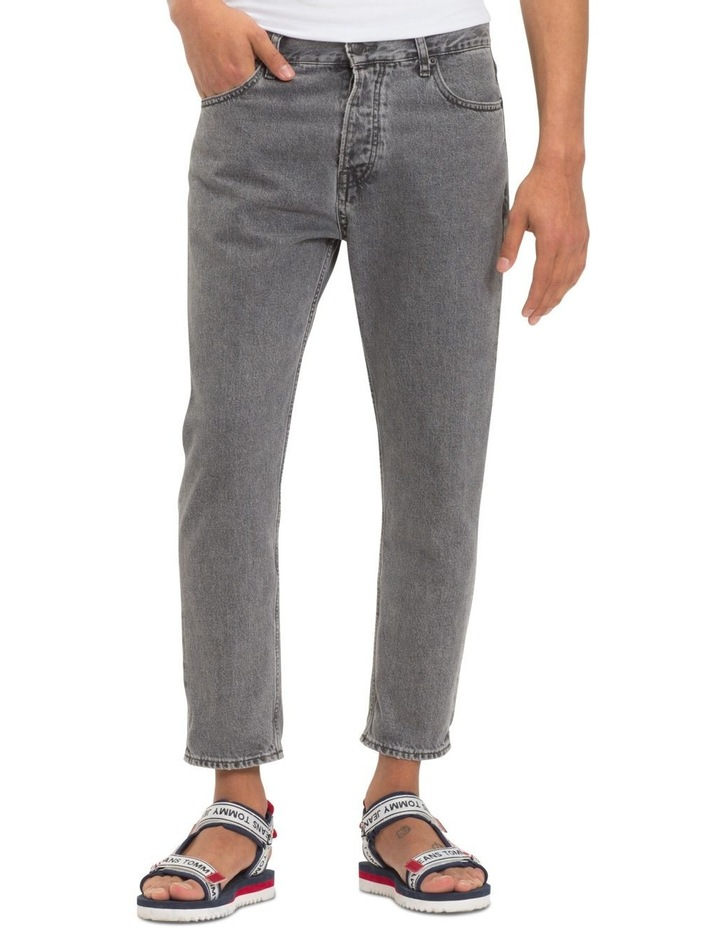 Relaxed Fit Cropped Denim Jeans image 2