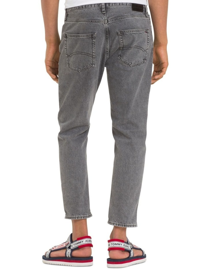 Relaxed Fit Cropped Denim Jeans image 4