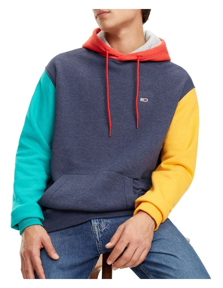 Colour-Blocked Fleece Hoody image 1