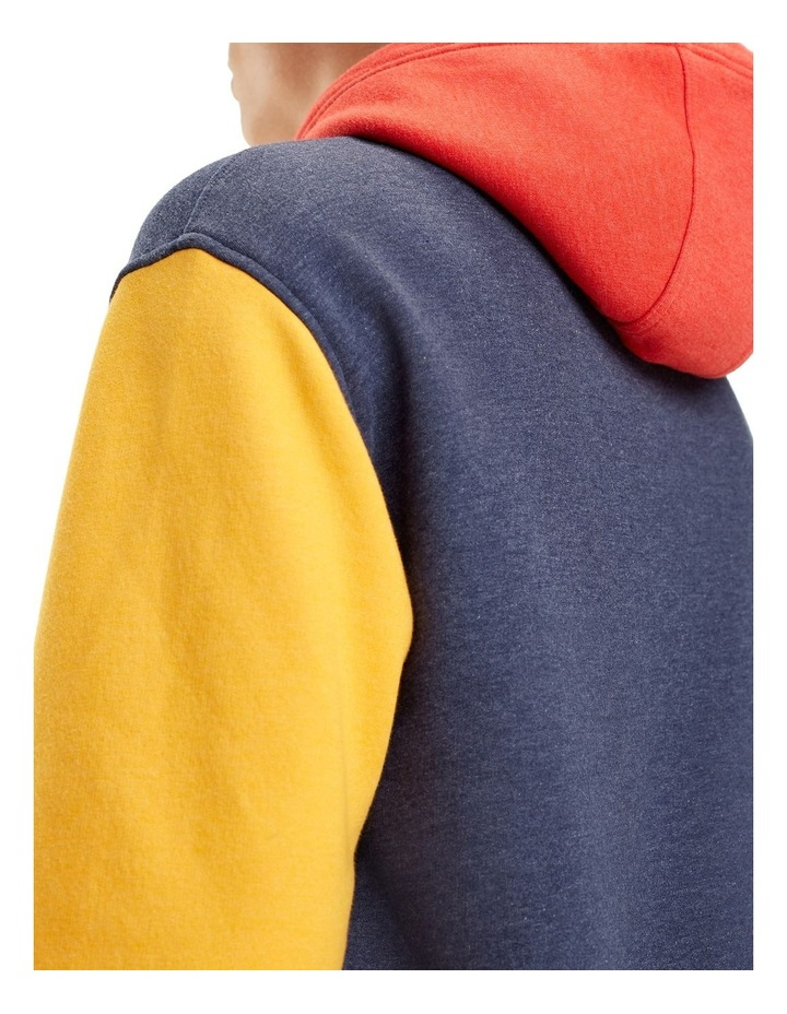 Colour-Blocked Fleece Hoody image 3