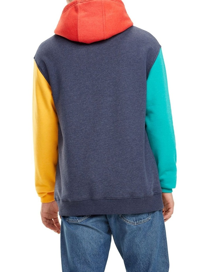 Colour-Blocked Fleece Hoody image 4